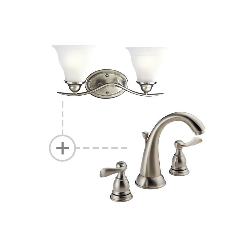 Delta B3596lf P3191 Chrome Chrome Windemere Widespread Bathroom Faucet Includes Matching