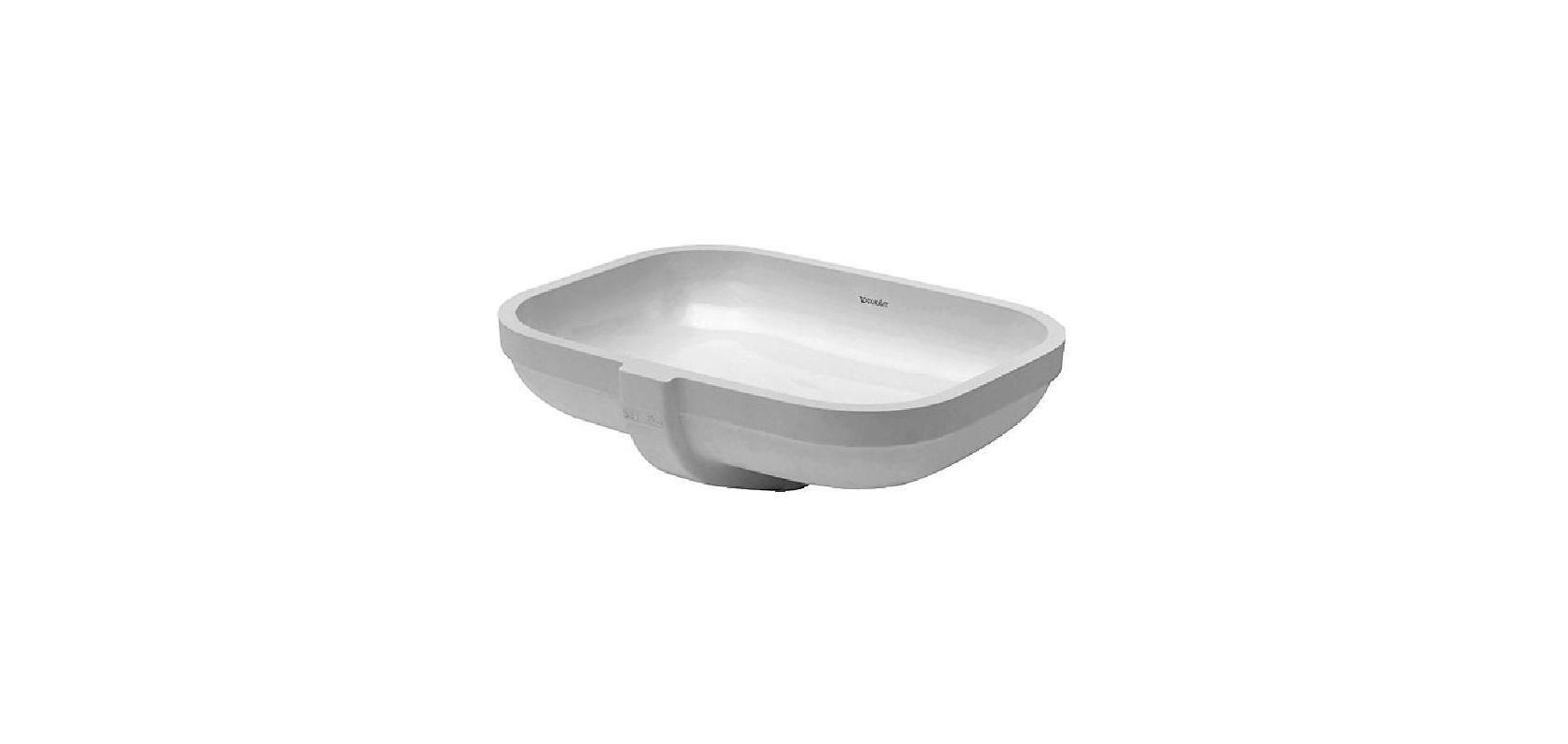Duravit 0457480000 White Undercounter Vanity Basin 18 7 8