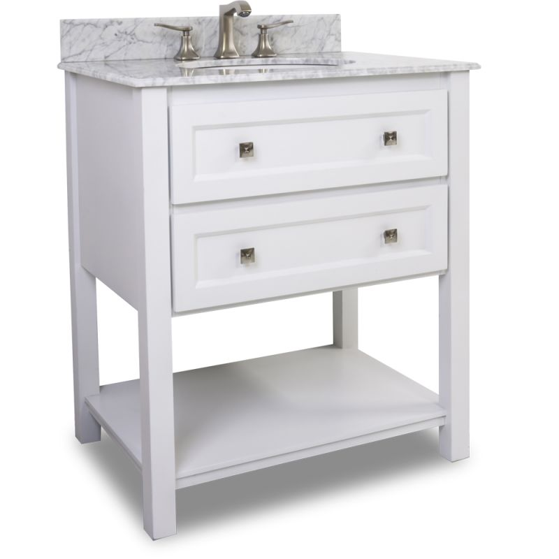 31 inch wide bathroom vanity cabinet with painted white fixture single