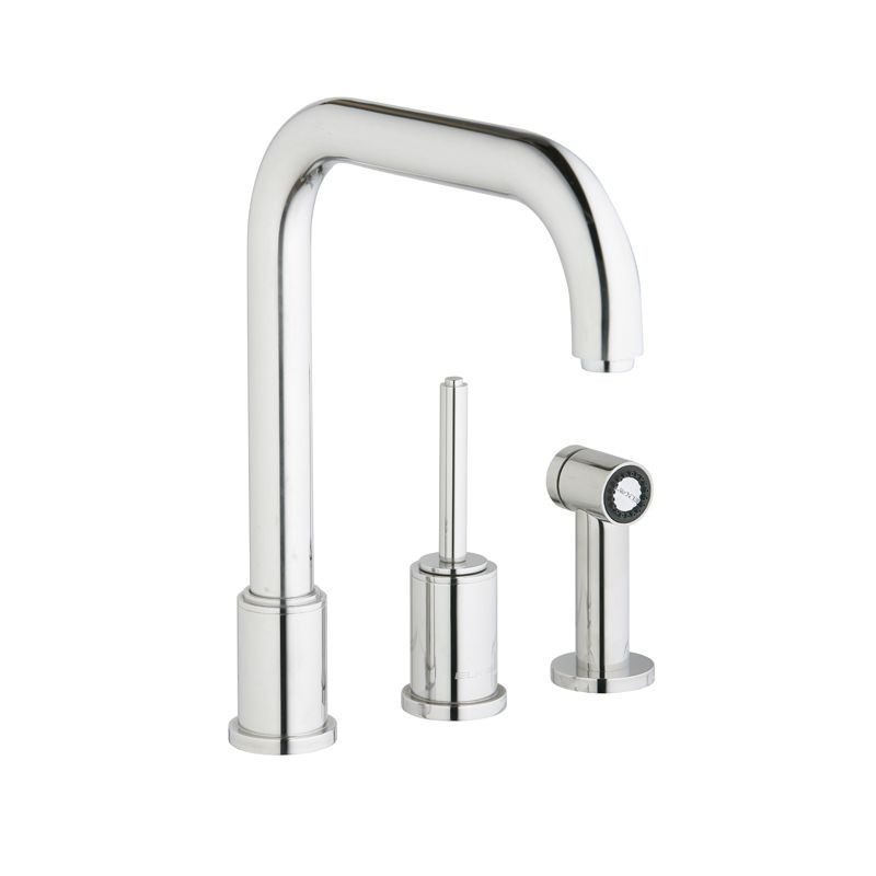 Elkay Lk7722pss Polished Stainless Steel Ella 12 15 16 Single Handle Pullout Kitchen Faucet