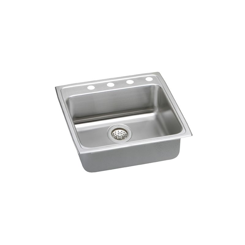 Elkay Stainless Steel Kitchen Sinks : elkay lrad2222603 single basin stainless steel top mount kitchen sink ...