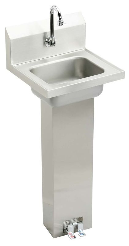 CHSP1716C Stainless Steel Stainless Steel Pedestal Mount Handwash Sink ...