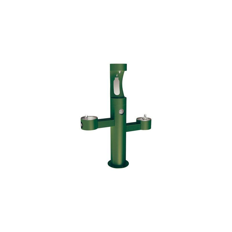 Elkay Lk4430bf Green Outdoor Bottle Filler Fountain With