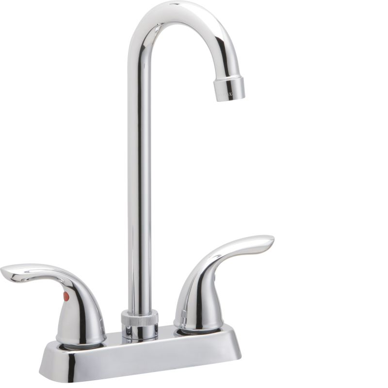 Elkay LK2477 Everyday High-Arc Bar Faucet Chrome Faucet Double Handle