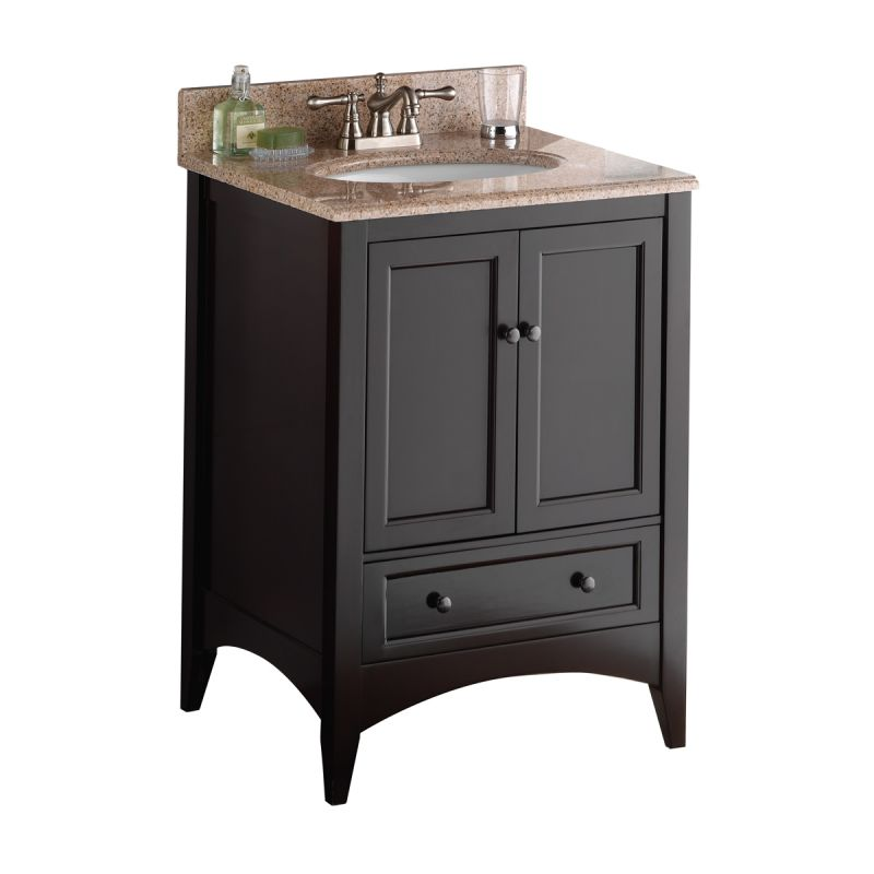 bathroom vanity cabinets 24 inches foremost beca2421d espresso berkshire 24 quot wood vanity 11789