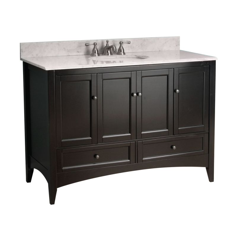 foremost be4821d berkshire bathroom vanity 48 espresso fixture single