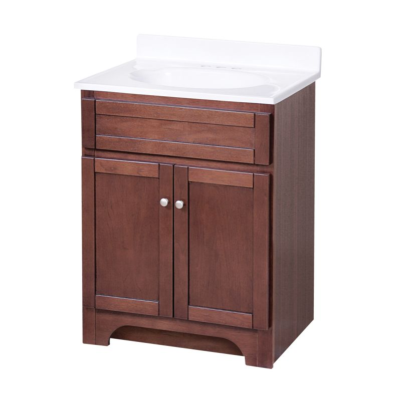 Ace kitchen direct cabinets - Foremost Cocat2418 Cherry Columbia Bathroom Vanity 24 Quot Faucetdirect
