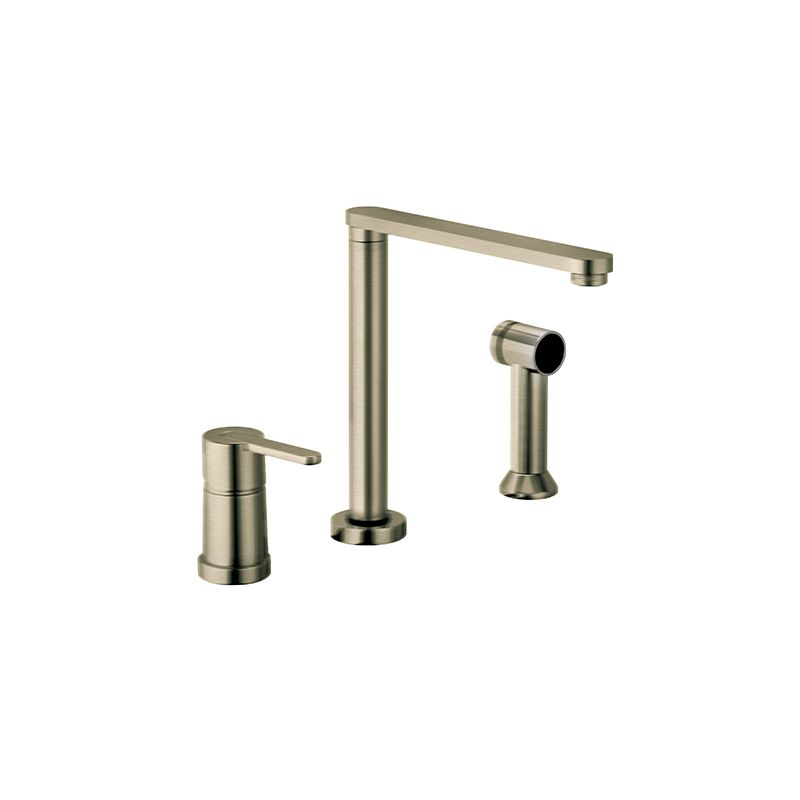 Fortis 9259000bn Brushed Nickel Adjustable Spout Height Kitchen Faucet Includes Side Sprayer