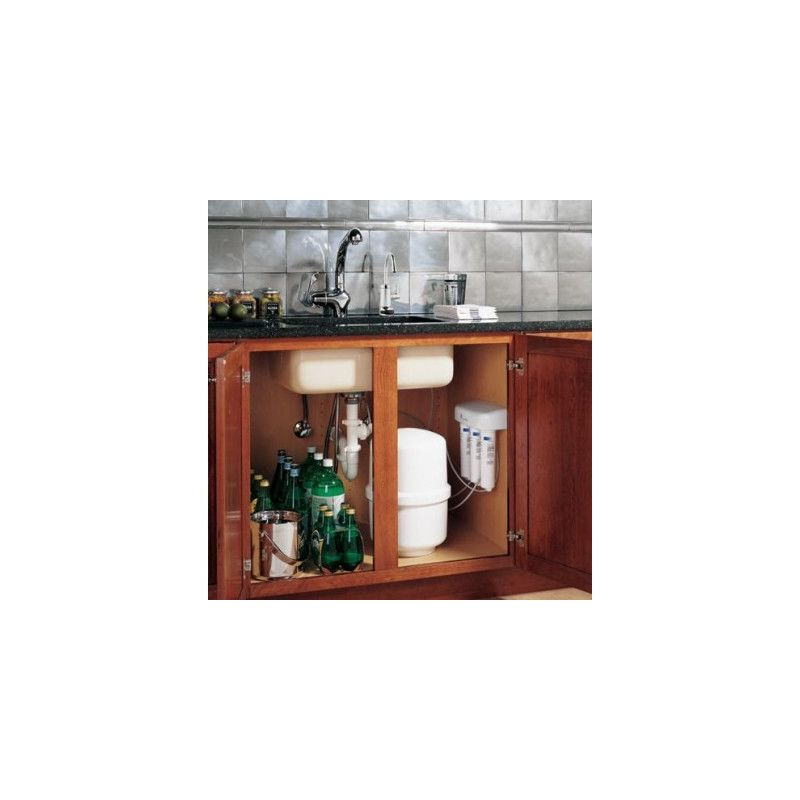 GE PNRQ20R Profile Reverse Osmosis Filtration System with Chrome Faucet White Water Filtration