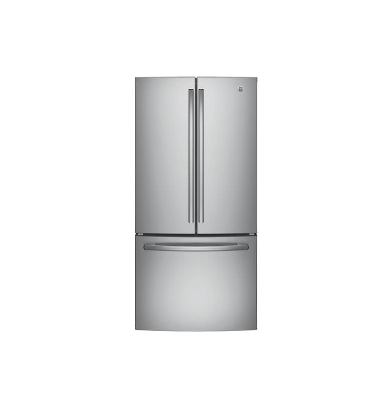 Ge Gne25jk 33 Inch Wide 24 8 Cu Ft Energy Star Rated French Door Refrigerat