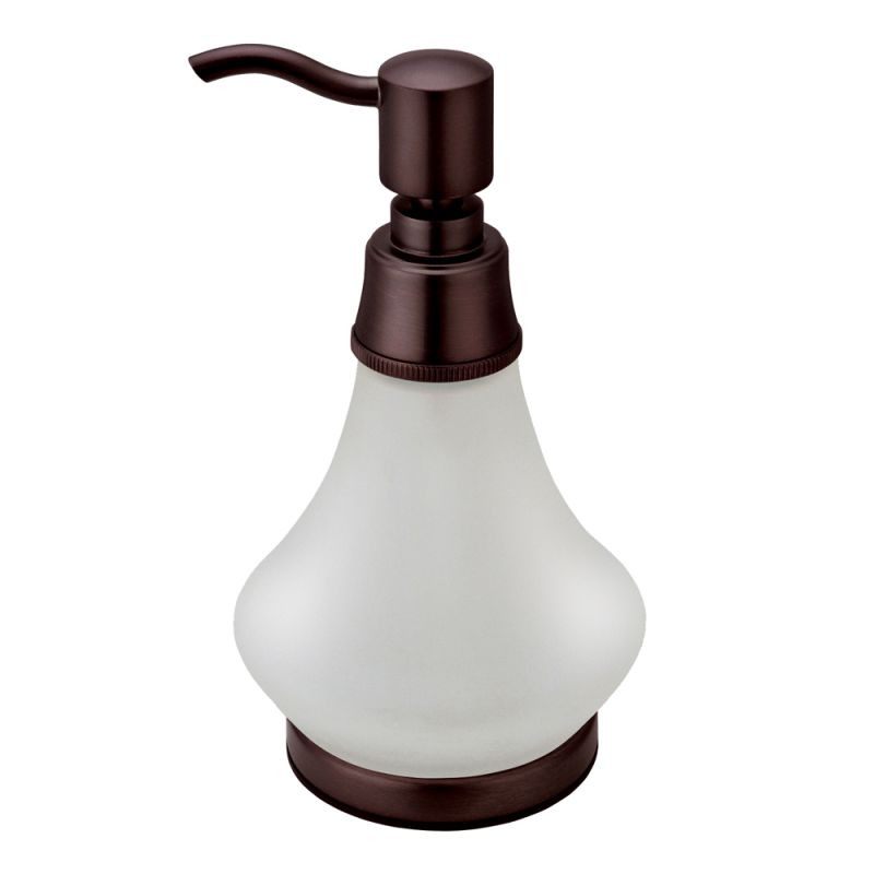 ... Bronze Frosted Glass Countertop Soap Dispenser - FaucetDirect.com