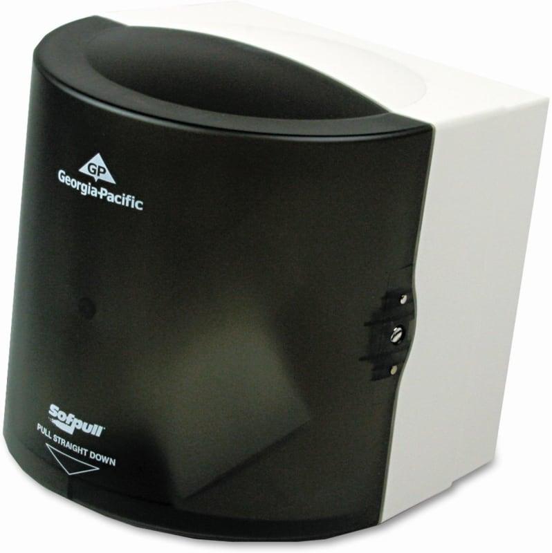 "Georgia-Pacific GPC58201 Sofpull Center Pull Hand Towel Dispenser, 11-7/8""""W X 10-1/2""""D X 11-1/2""""H, Smoke -  Georgia Pacific"
