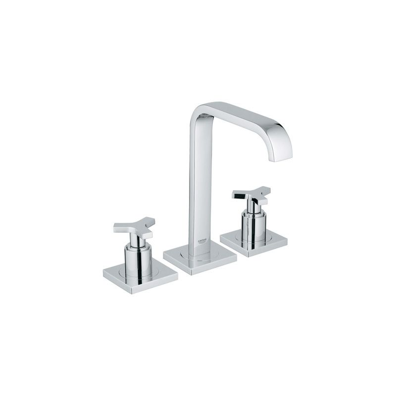Grohe 20148000 Starlight Chrome Allure Widespread Bathroom Faucet With Silkmove Technology