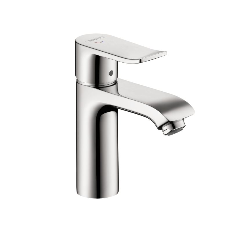 Hansgrohe 31121001 Chrome Metris Single Hole Bathroom Faucet With QuickClean