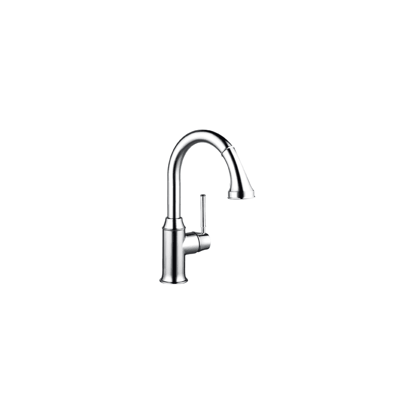 Hansgrohe 04216000 Chrome Talis C Pull Down Prep Kitchen Faucet With Higharc Spout Magnetic