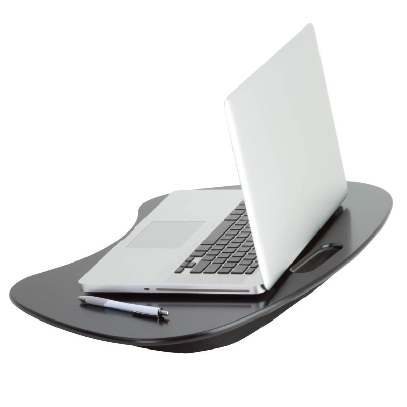 Honey-Can-Do TBL-02869 Portable Laptop Desk with Handle Black Home Office Laptop Stand