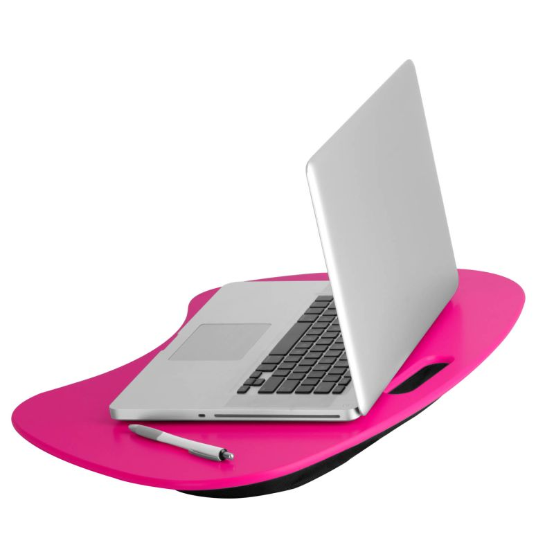 Honey-Can-Do TBL-06322 Portable Laptop Desk with Handle Pink Home Office Laptop Stand