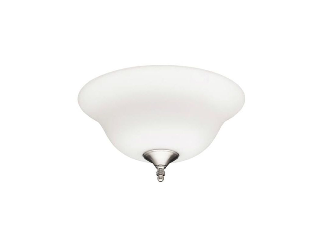Hunter 28592 Bowl Light Kit With Frosted Opal Glass