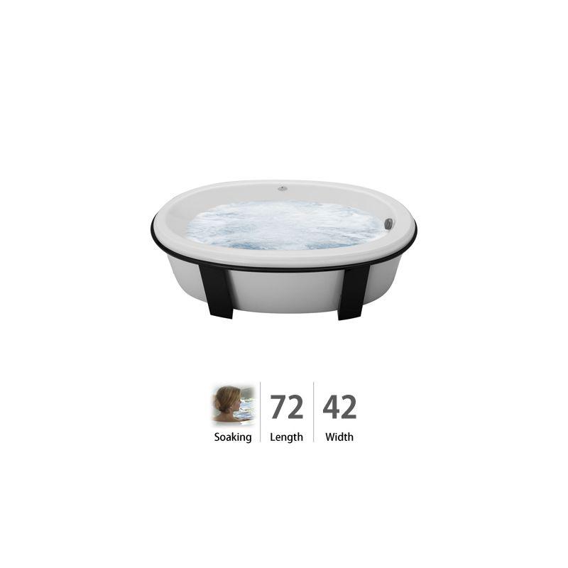 jacuzzi glf7242buxxxxw white 72 x 42 gallery freestanding soaking bathtub with universal drain. Black Bedroom Furniture Sets. Home Design Ideas