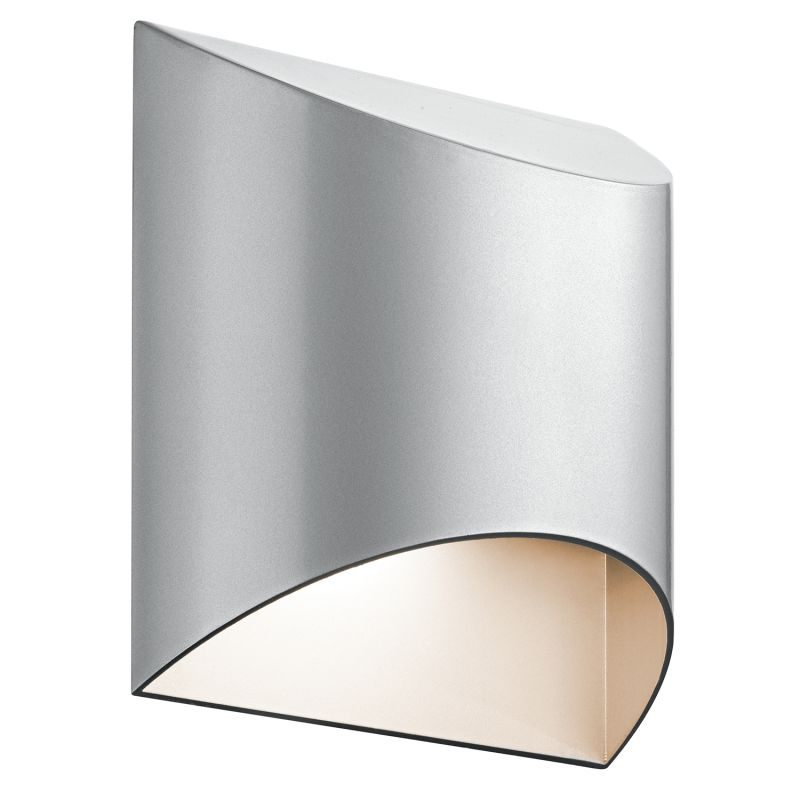 """Kichler 49278LED Wesly 1 Light 7"""""""" Wide LED ADA Compliant Wall Sconce with Metal Platinum Outdoor Lighting -  49278PLLED"""