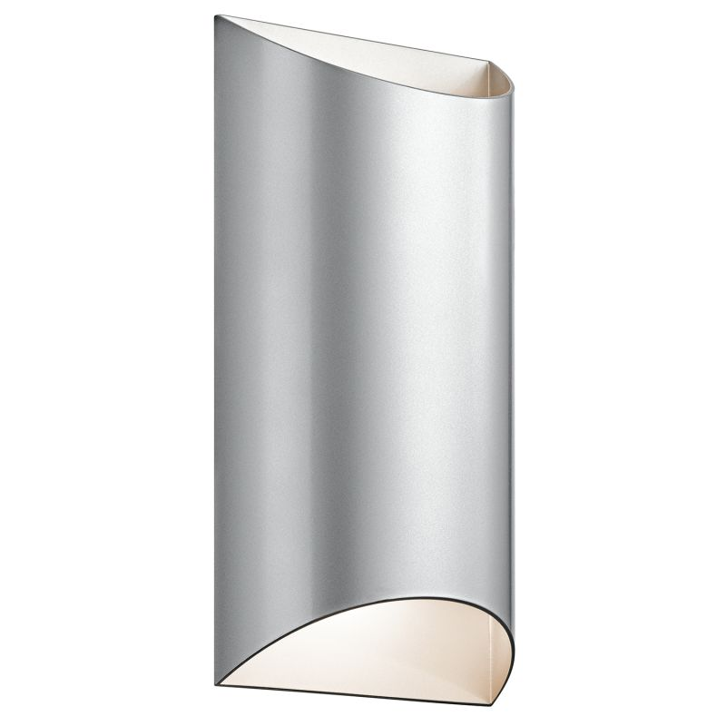 """Kichler 49279LED Wesly 2 Light 7"""""""" Wide LED ADA Compliant Wall Sconce with Metal Platinum Outdoor Lighting -  49279PLLED"""