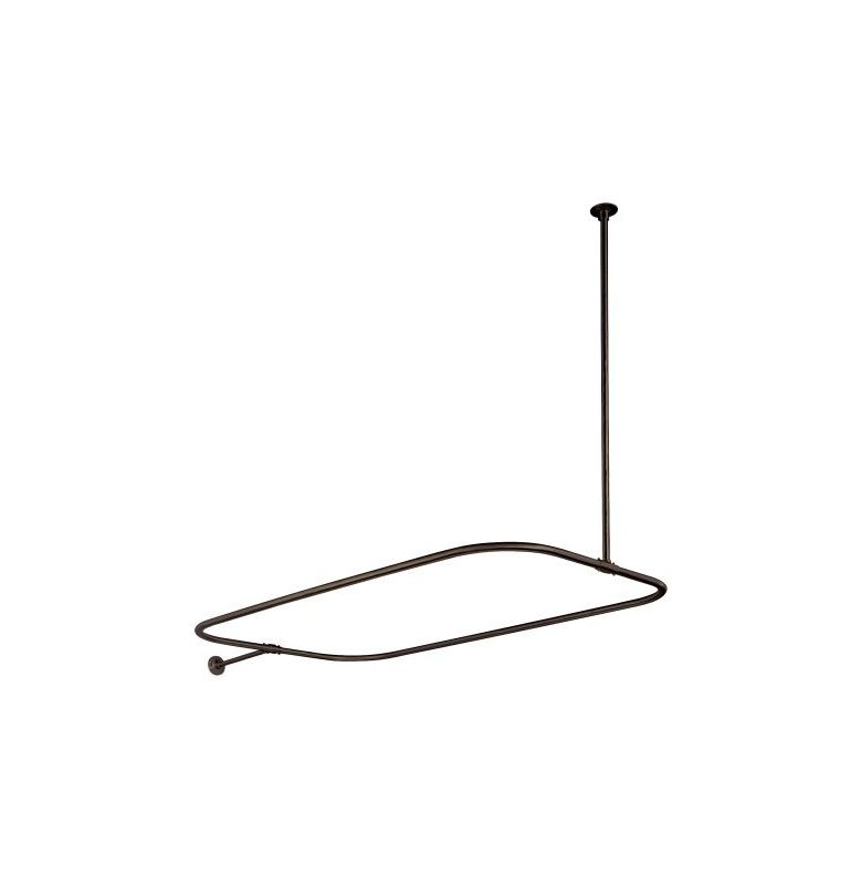 Kingston Brass Cc3155 Oil Rubbed Bronze Vintage Rectangular Style Shower Curtain Rod With