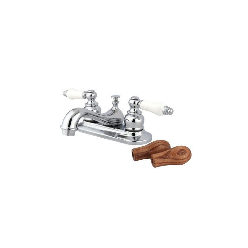 Kingston Brass Gkb601b Polished Chrome Restoration Centerset Bathroom Faucet With Pop Up Drain