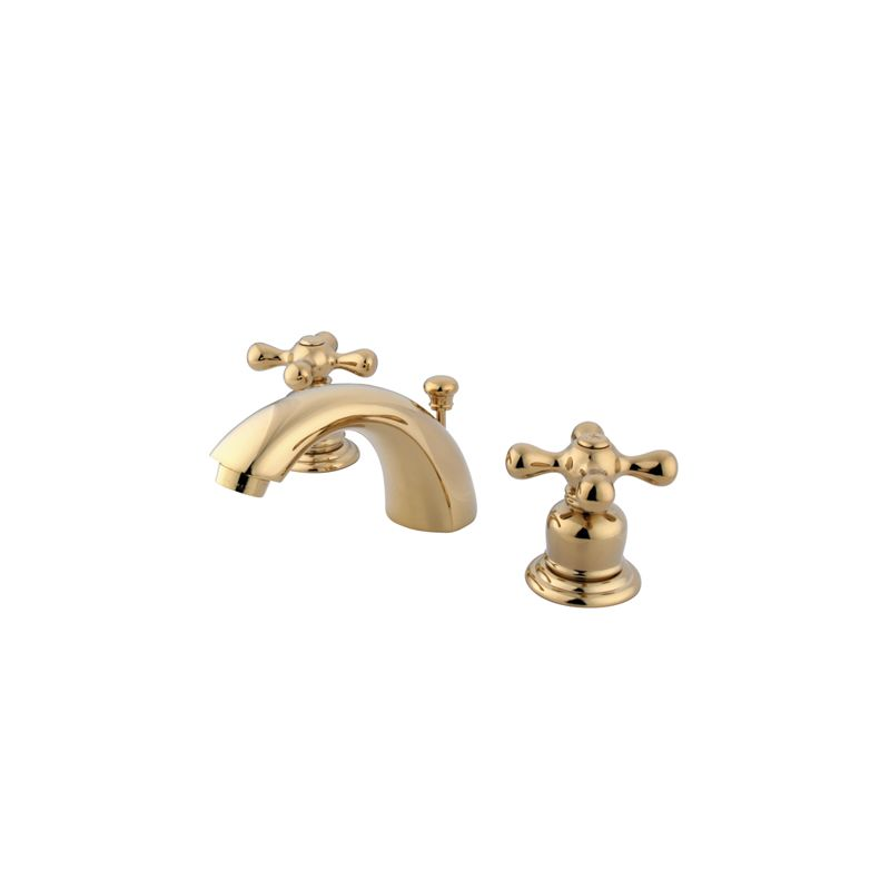 Kingston Brass Gkb942ax Polished Brass Victorian Mini Widespread Bathroom Faucet With Pop Up
