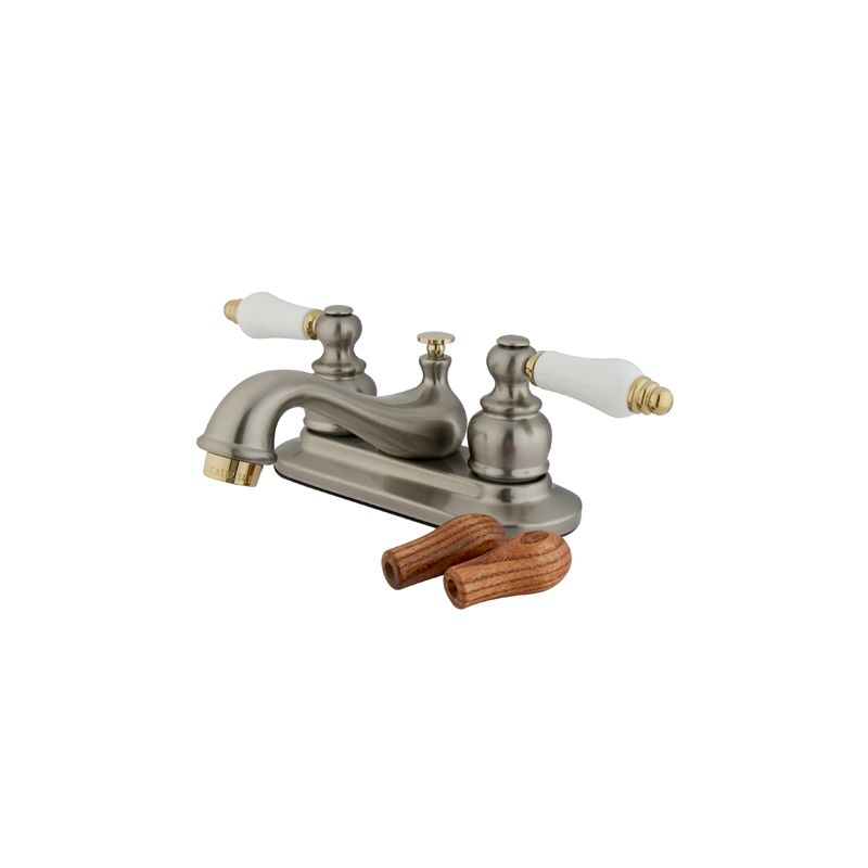 Kingston Brass Kb609b Satin Nickel Polished Brass Restoration Centerset Bathroom Faucet Free