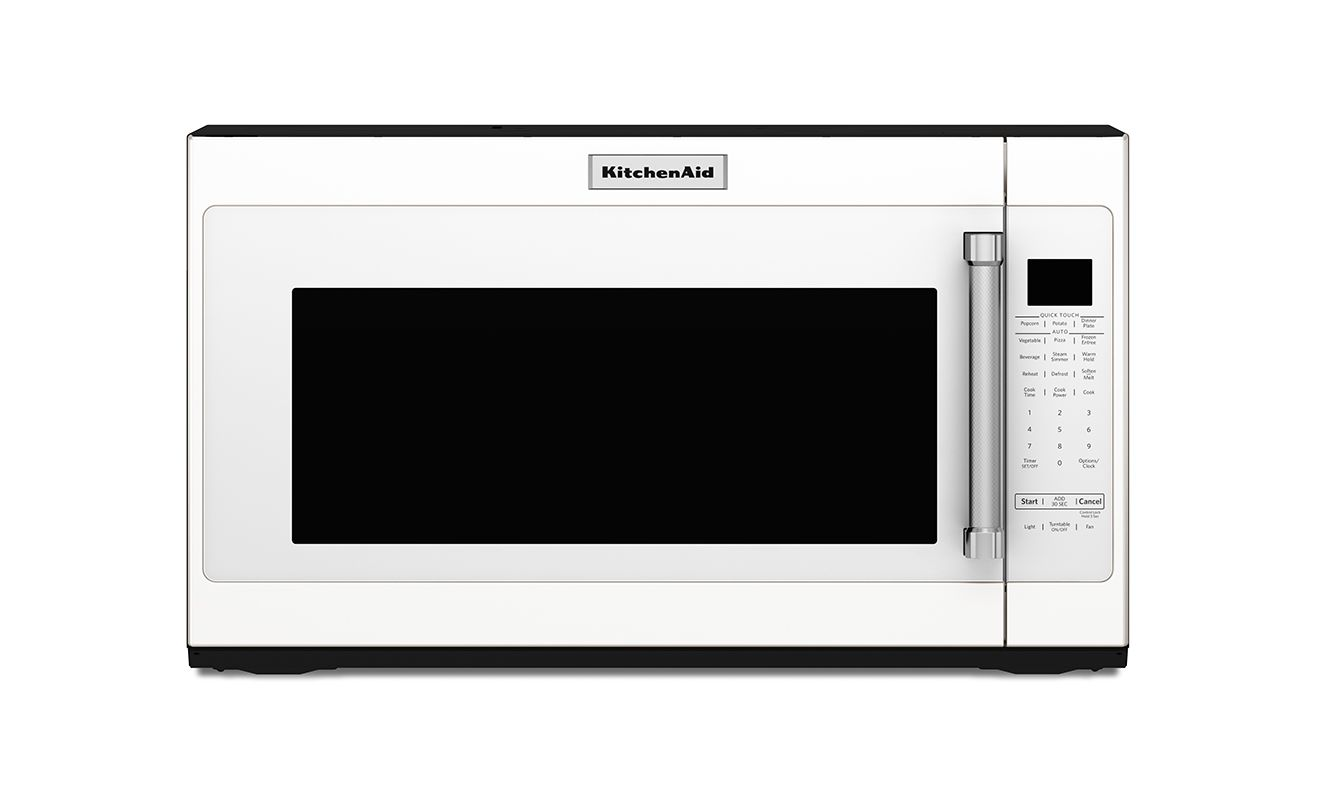Kitchenaid kmhs120e 30 inch wide 20 cu ft overtherange microwave with 1000w white microwave - Kitchenaid microwave turntable replacement ...