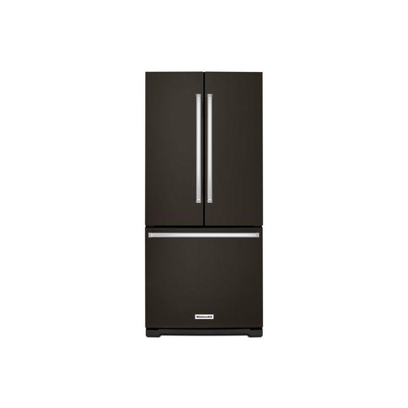 Kitchenaid Krff305ebs 25 2 Cu Ft French Door Refrigerator: Black Stainless Fridge