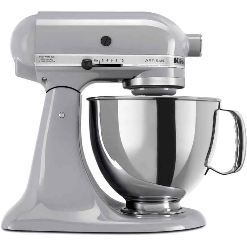 KitchenAid KSM150PS 10 Speed 5 Qt. Stand Mixer with Direct Drive Transmission Metallic Chrome Small Appliances Stand Mixers