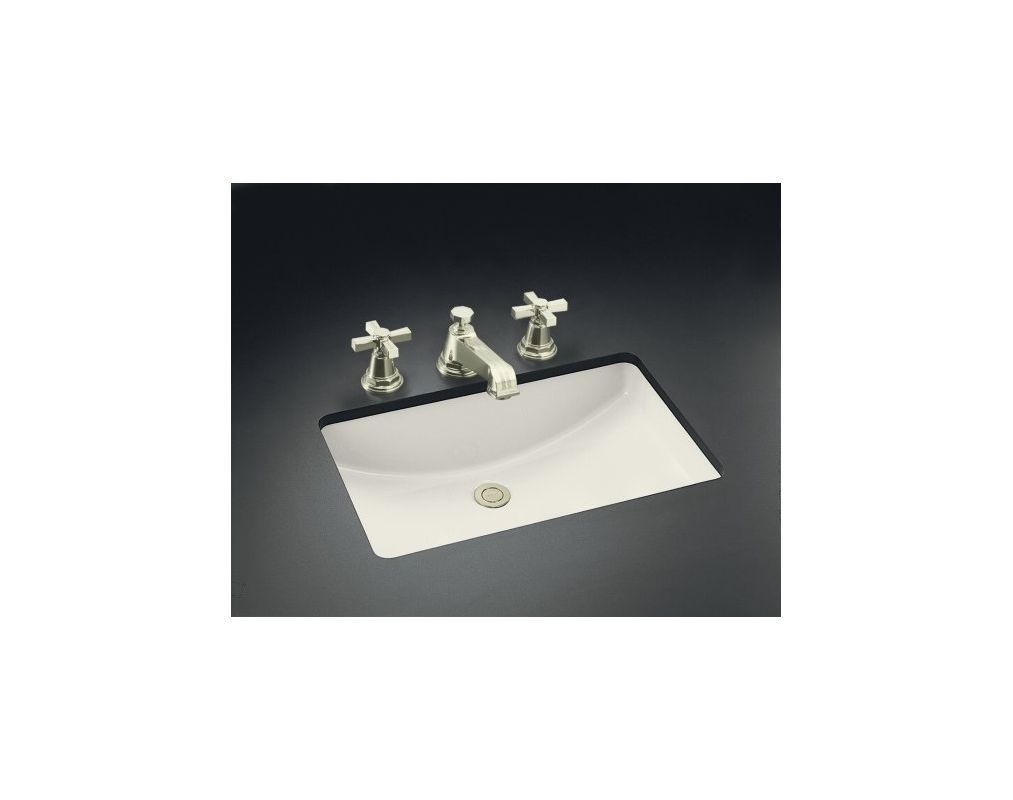 Kohler K 2215 96 Biscuit Ladena 20 1 2 Undermount Bathroom Sink With Overflow