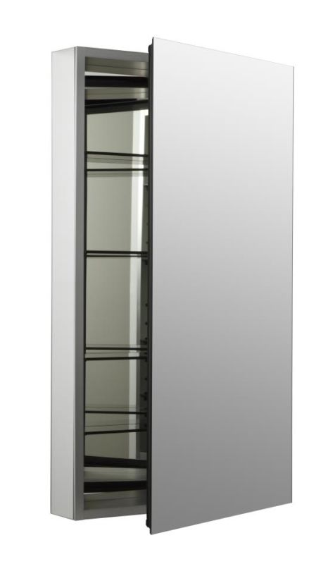 cabinet with 107 degree hinge and triple mirror design faucetdirect