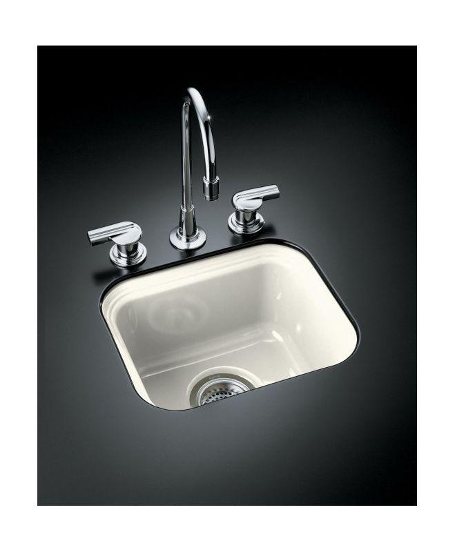 Kohler K 6589 U 96 Biscuit Single Basin Cast Iron Bar Sink