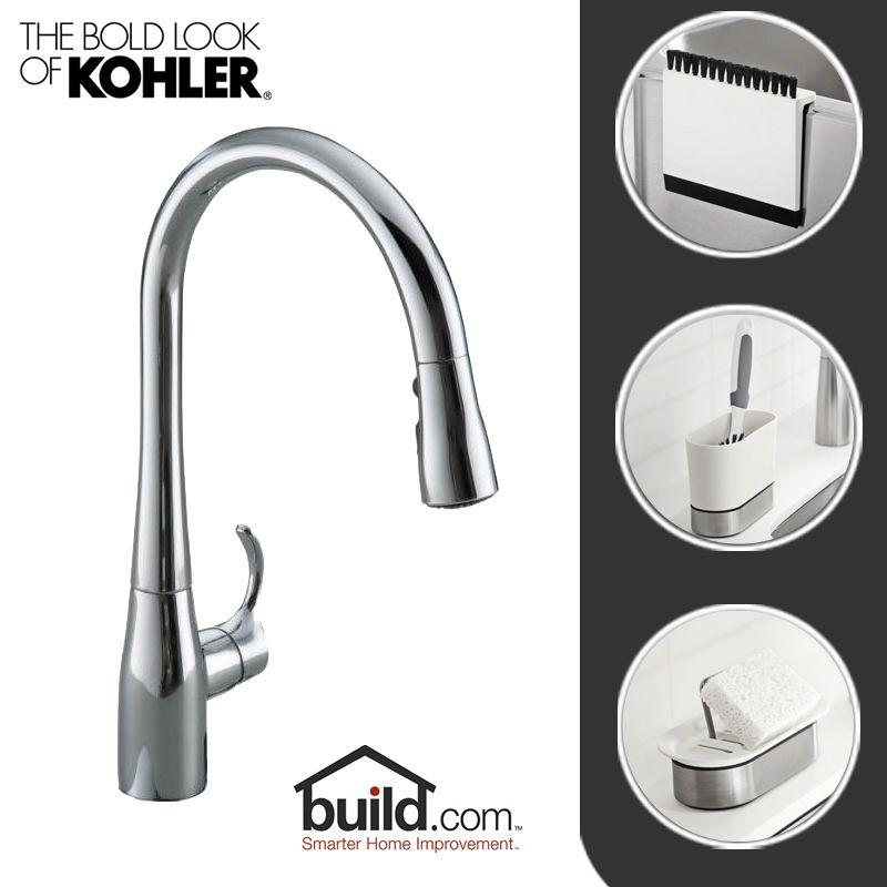 Kohler Simplice Kitchen Faucet Parts: Kohler Kitchen Update CP Polished Chrome Includes Simplice