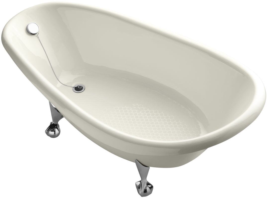 kohler k 100 96 biscuit birthday bath 72 cast iron clawfoot soaking
