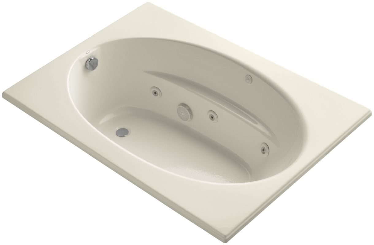 Kohler K 1112 Hb 47 Almond Windward Collection 60 Drop In Jetted Whirlpool Bath Tub With