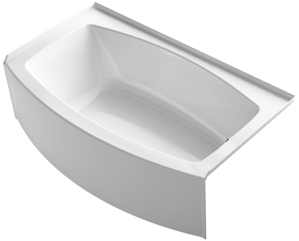 Kohler K 1118 Ra 0 White 60 Quot Three Wall Alcove Curved