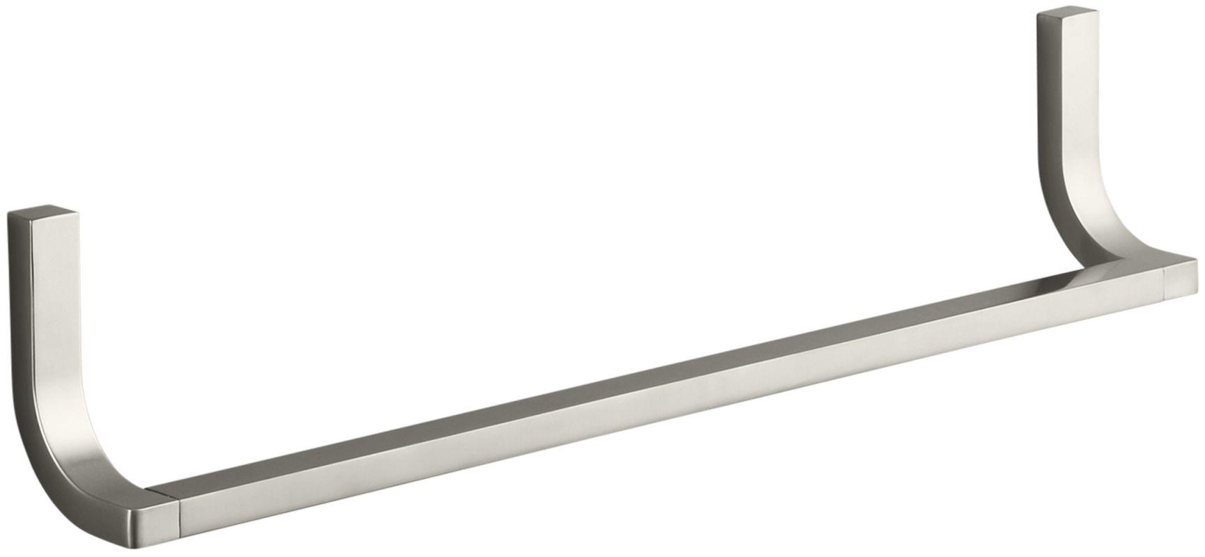 Kohler Pedestal Sink Towel Bar : Kohler K-11580-BN Brushed Nickel Loure 18