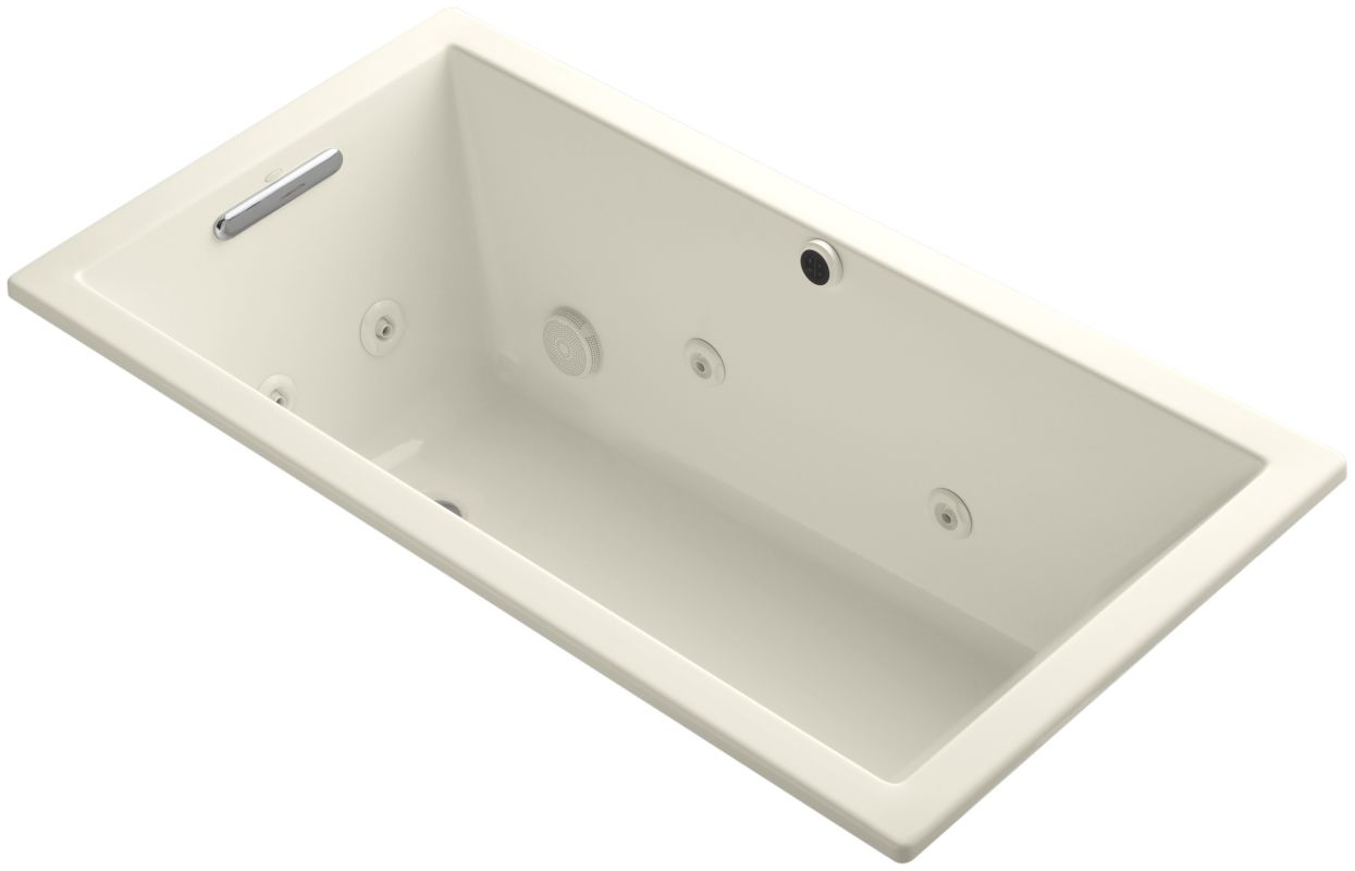 jetted whirlpool bath tub with reversible drain