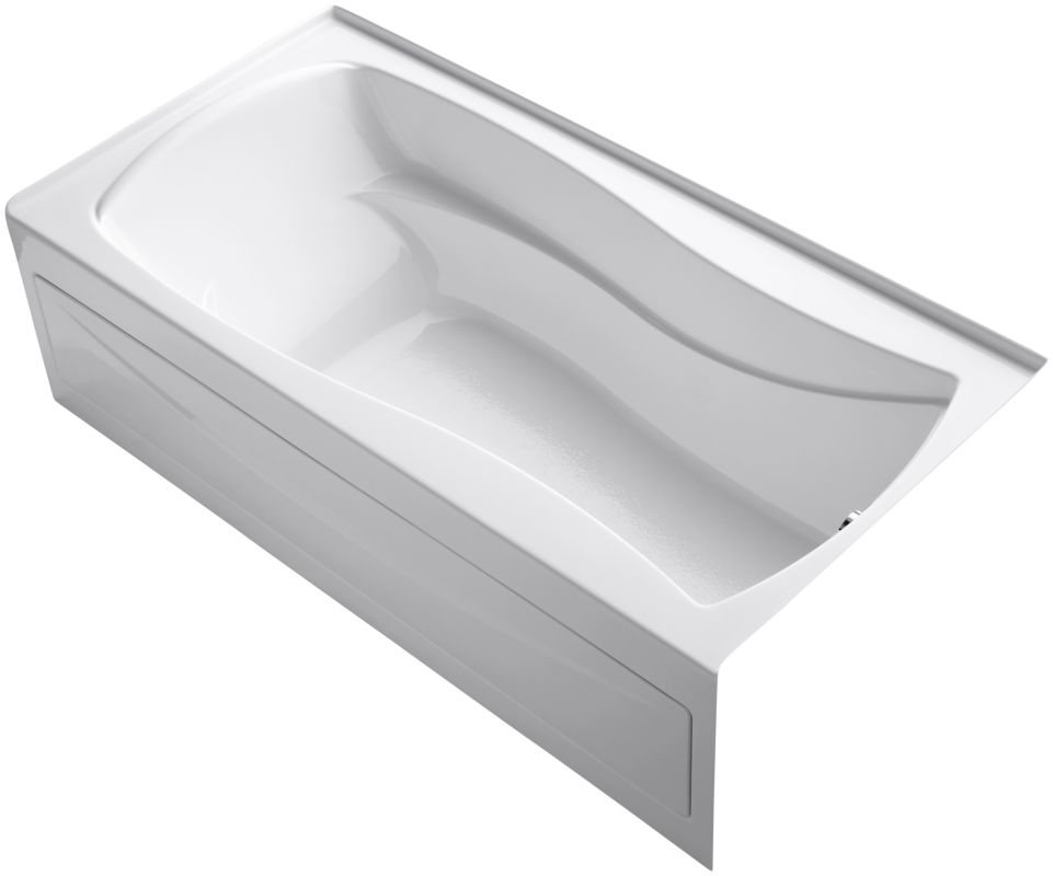 Sterling 71091124 acclain 5 foot three wall alcove soaking for Deep alcove bathtubs