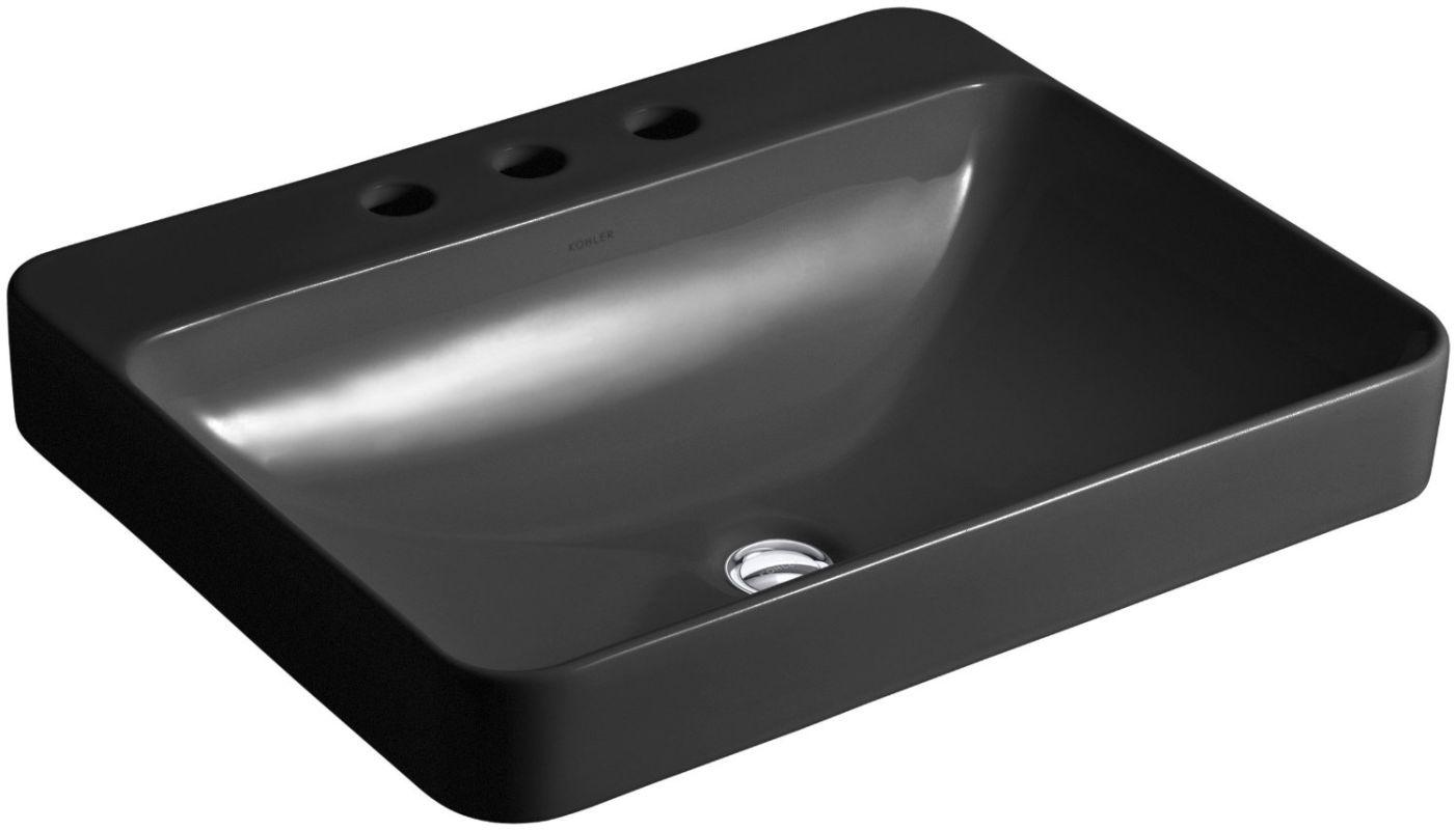 Kohler Vox Sink : Kohler K-2660-8-0 White Vox 22
