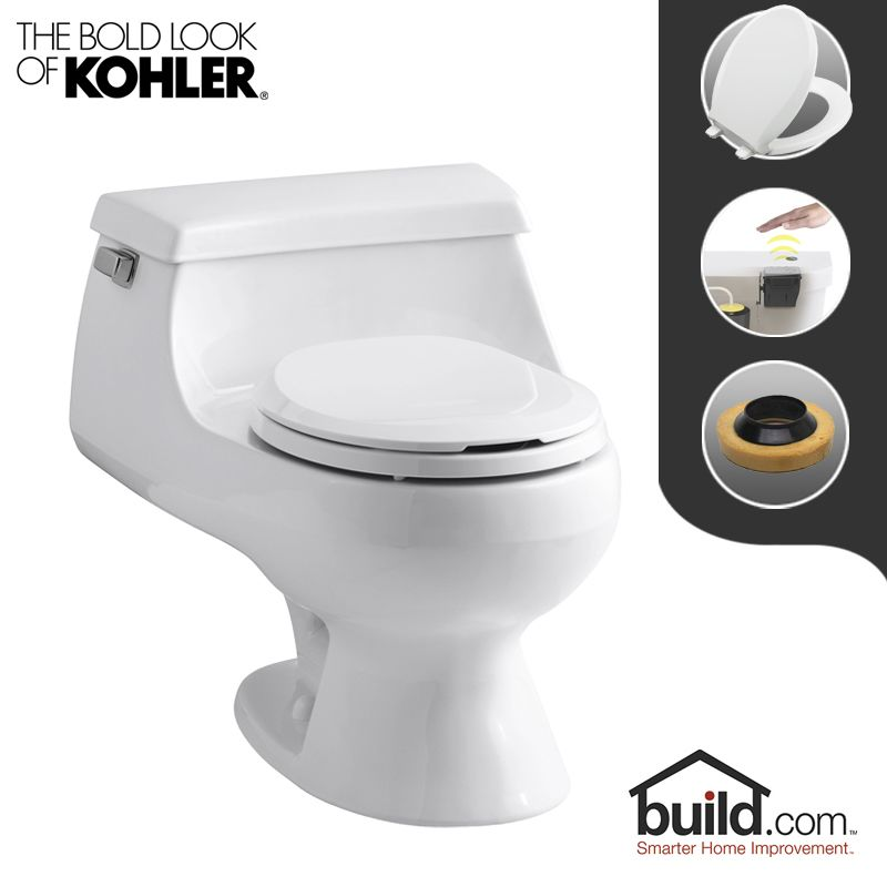 Kohler K 3386 0 Touchless White Rialto 1 6 Gpf Round One