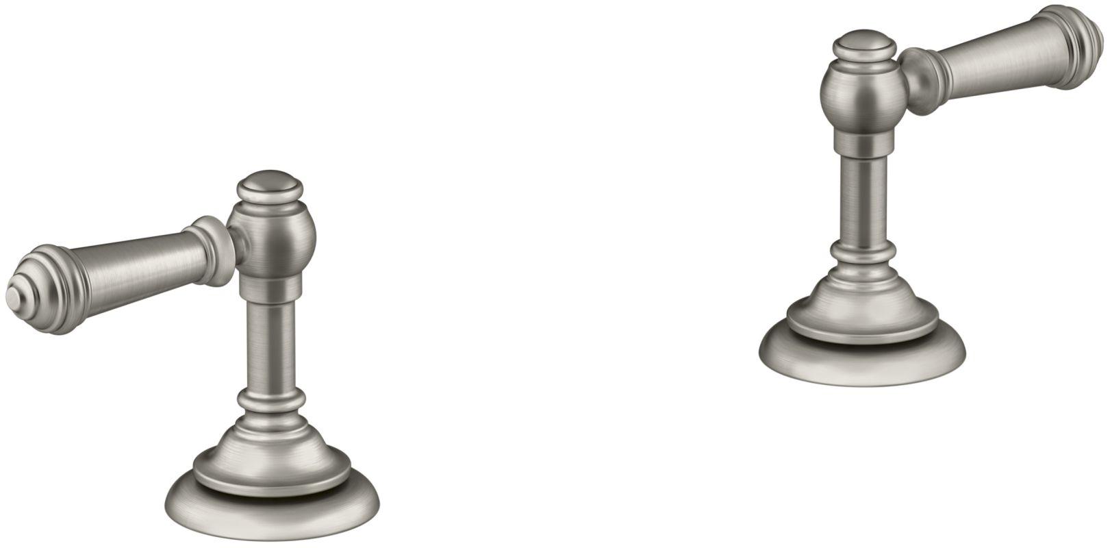Kohler K T98071 4 BN Vibrant Brushed Nickel Artifacts Lever Handles For Roman
