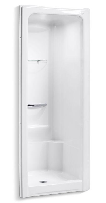 Kohler K 1689 0 White Sonata One Piece Shower Module With