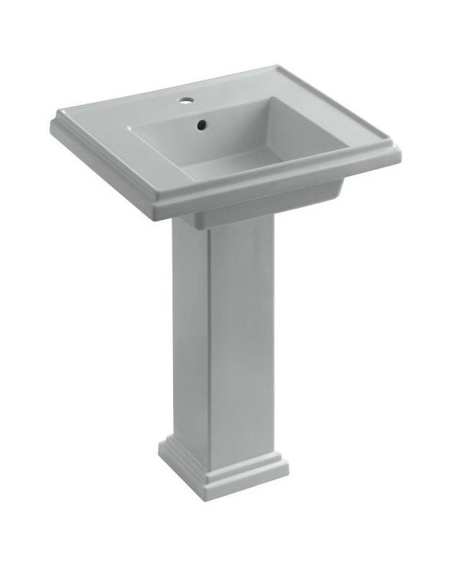 Tresham Pedestal Sink : Kohler K-2844-1-95 Ice Grey Tresham 24