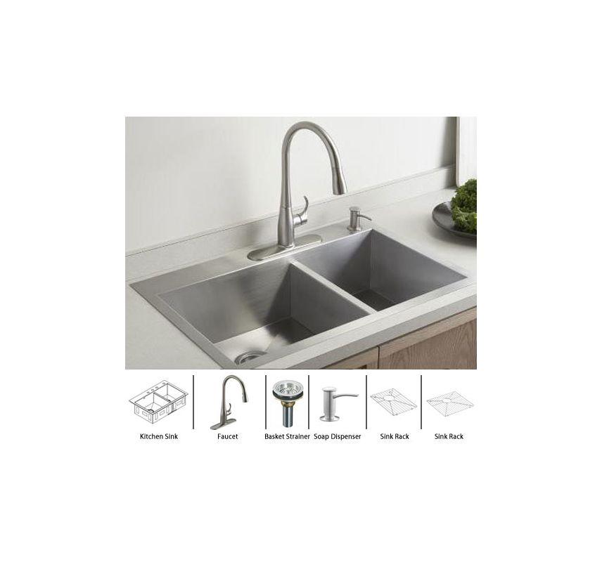 ... Sink / Stainless Basket Strainer Complete Kitchen Sink and Accessories