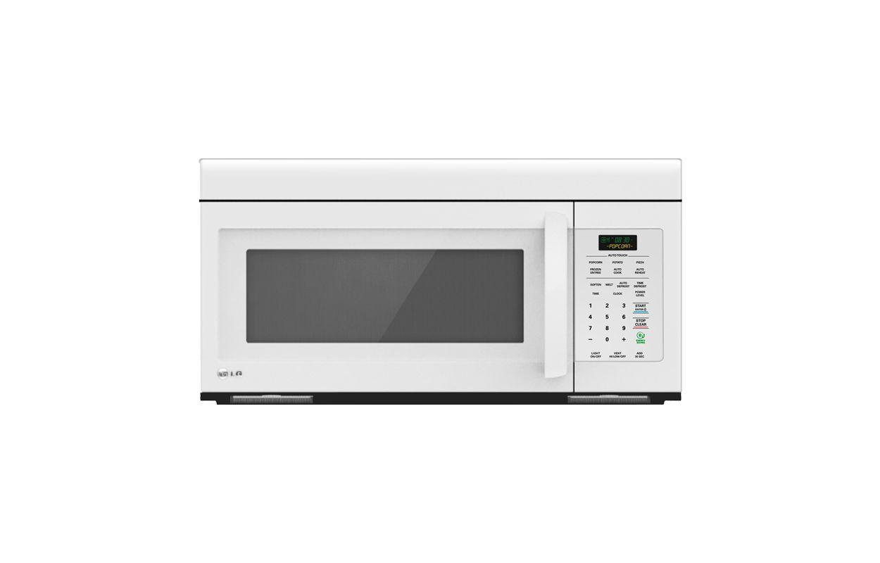 LG LMV1683 1.6 Cu. Ft. Non-Sensor Over the Range Microwave Oven White Microwave Ovens Over-the-Range