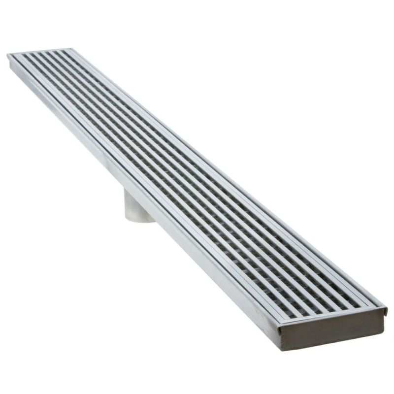 LUXE Linear Drains 36WW 36 Wedgewire Linear Shower Drain Satin Stainless Shower Accessories Stainless Steel